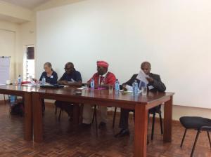 Chair Steve Akoth with Jill Ghai, Patrick Onyango and David Mbuthia