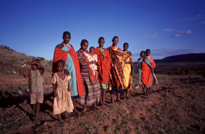 Maasai women and children in Lemek, Narok County, Kenya. Photo: Lotte Hughes